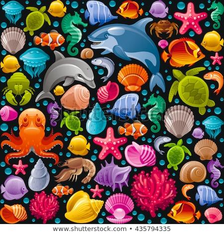 Pescaria ícone padrão eps 10 textura Foto stock © netkov1