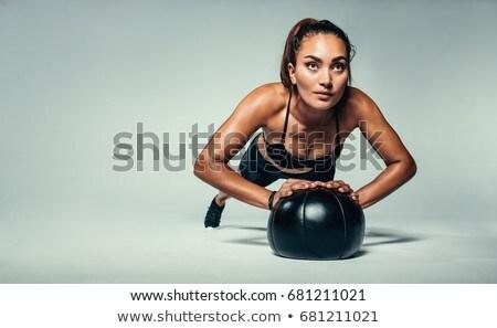 Jonge vrouw geneeskunde bal Stockfoto © Jasminko