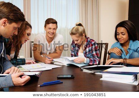 Working together to prepare for finals Stock photo © iko