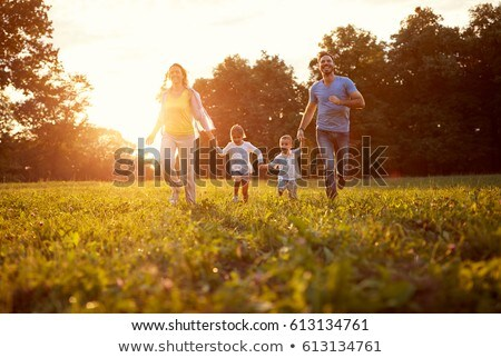 Család együtt nyár park fiú baba Stock fotó © Lopolo