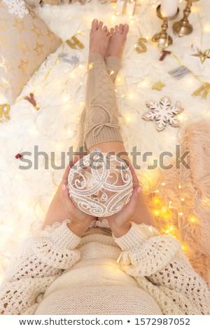 Kobiet cacko dekoracje christmas dość Zdjęcia stock © lovleah
