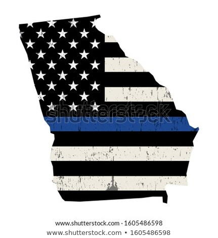 Gruzja policji wsparcia banderą ilustracja Zdjęcia stock © enterlinedesign