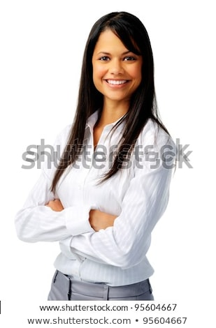 Pretty young smiling businesswoman of Asian ethnicity crossing arms by chest Stock photo © pressmaster