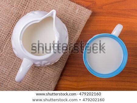 Manteiga bolinhos jarro leite vidro Foto stock © Alex9500