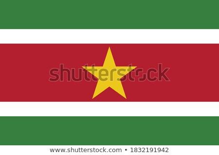 Суринам флаг белый дизайна знак зеленый Сток-фото © butenkow
