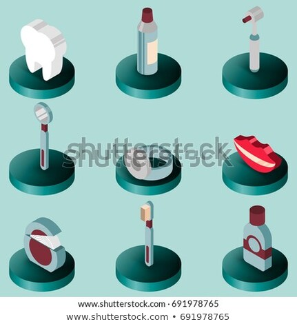 Stomatology Tooth Crown isometric icon vector illustration Stock photo © pikepicture