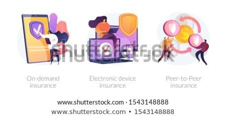 Követelés biztosítás vektor metafora szolgáltatás digitális Stock fotó © RAStudio