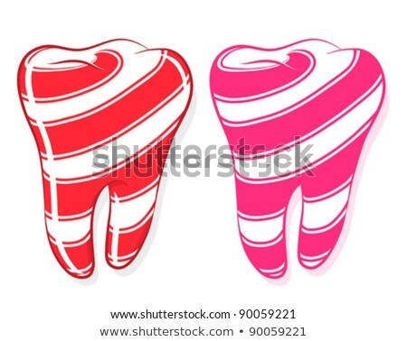 Candy Striped Teeth idiom sweet tooth Stock photo © adrian_n