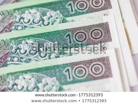 polish money green background stock photo © redpixel