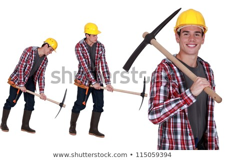 a worker posing with a pickaxe Stock photo © photography33