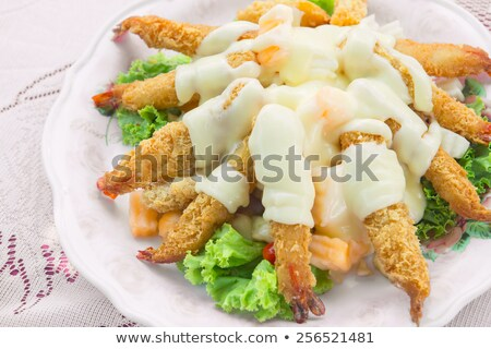 close up on shrimp fritter Stock photo © M-studio