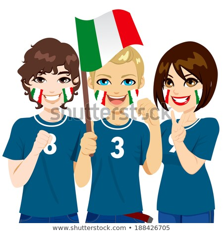 Women supporting the Italian national football team Stock photo © photography33