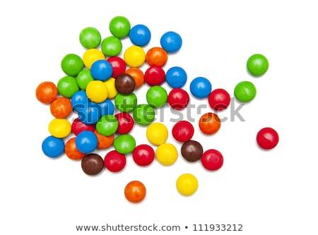 cukorka · színes · édesség · levél · formák · helyesírás - stock fotó © lunamarina