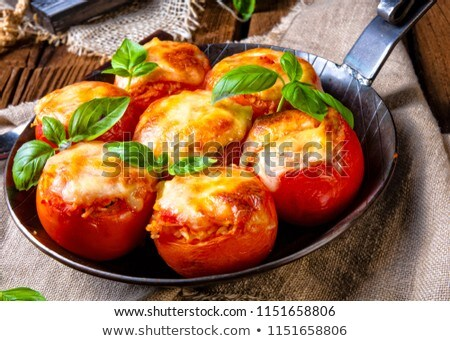 Stuffed Tomatoes Stok fotoğraf © Dar1930