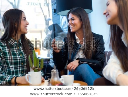 Young woman drinking cofee portrait. Stock photo © pxhidalgo
