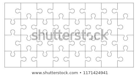 vier · puzzelstukjes · geschikt · samen · verschillend · gekleurd - stockfoto © raywoo