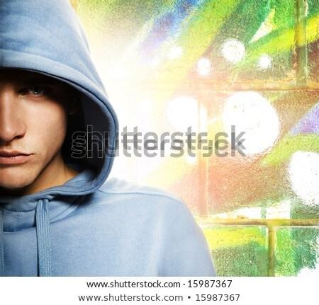 Cool naar man abstract graffiti gezicht Stockfoto © Nejron