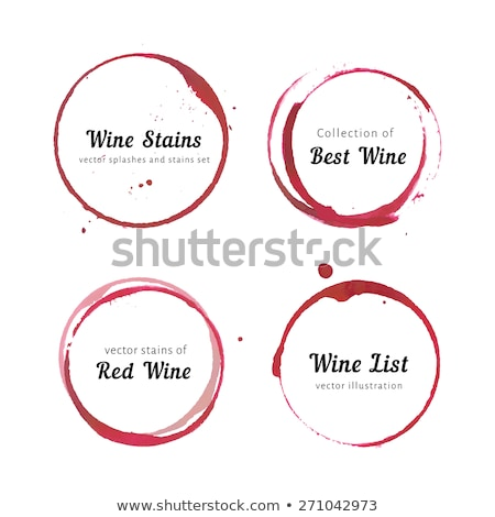 Wine glass stains Stock photo © sumners