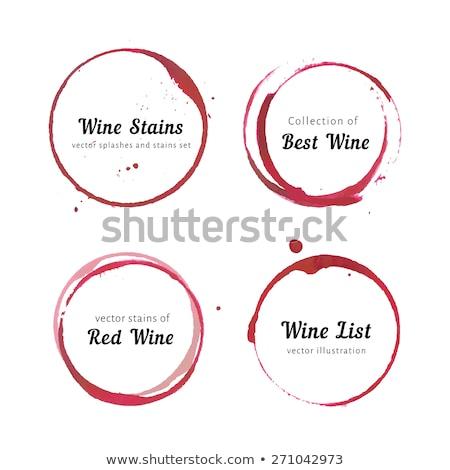 vinho · tinto · coleção · isolado · branco - foto stock © sumners