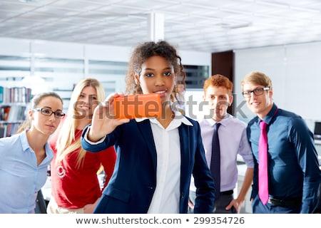 african young executive selfy multi ethnic team stock photo © lunamarina