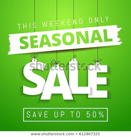 Seasonal Deal Green Vector Icon Design Stock photo © rizwanali3d