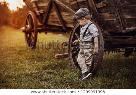 portré · aranyos · kicsi · fiú · retró · stílus · olvas - stock fotó © zurijeta