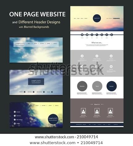 Cloud  template design Stock photo © Ggs