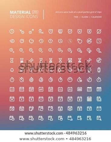 время икона вектор икона стиль символ cyan Сток-фото © ahasoft