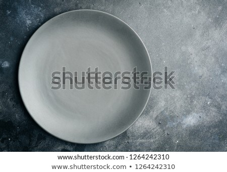 cinza · jantar · prato · grande · limpar · cerâmica - foto stock © Digifoodstock