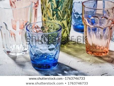 Grup cam içmek kırmızı mavi yeşil Stok fotoğraf © stokato