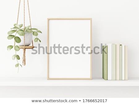 Illustrazione secchio di vernice pennello isolato bianco costruzione Foto d'archivio © get4net