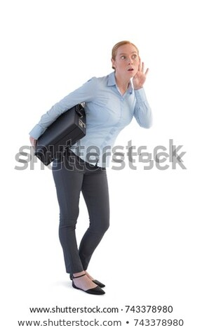 Empresária pasta escuta fofoca branco mão Foto stock © wavebreak_media
