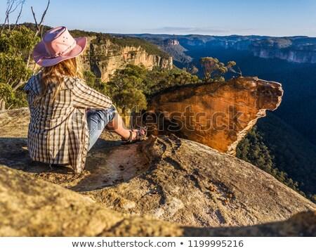 Impiccagione rock fuori rupe top Foto d'archivio © lovleah