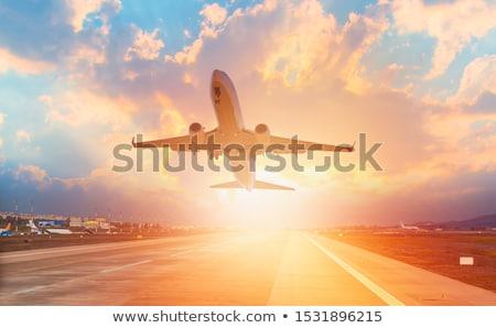 самолет иллюстрация Flying плоскости скорости лет Сток-фото © olegtoka