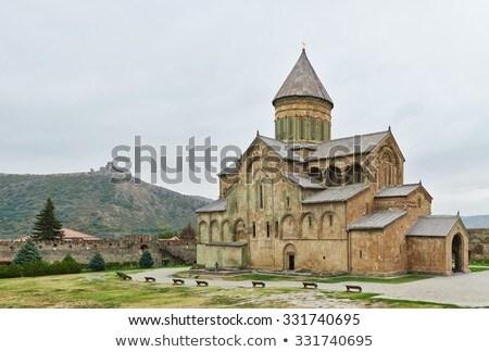 Cathédrale Géorgie orientale orthodoxe Voyage Europe Photo stock © boggy