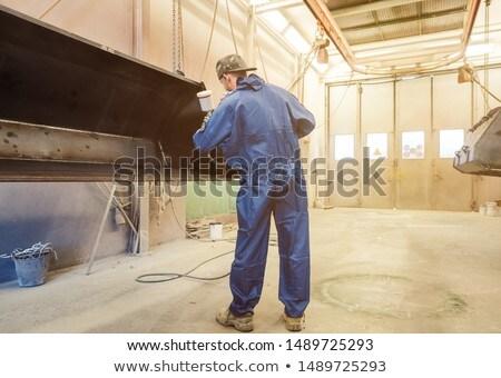 Varnisher in industrial metal factory Stock photo © Kzenon