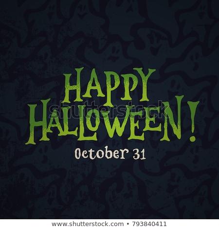 Szczęśliwy halloween wampira bat dynia strony Zdjęcia stock © Krisdog