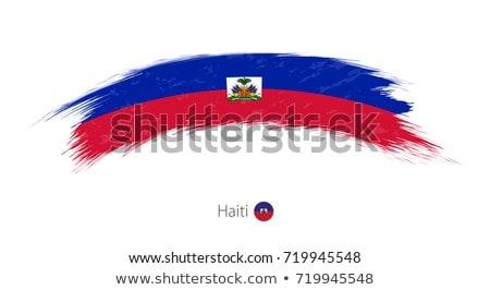 Haïti vlag witte wereld teken patroon Stockfoto © butenkow