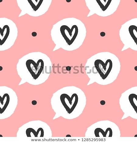 Fekete rózsaszín foltok végtelen minta kézzel rajzolt minta Stock fotó © natali_brill