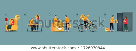 Delivery man pick up order Stock photo © vichie81