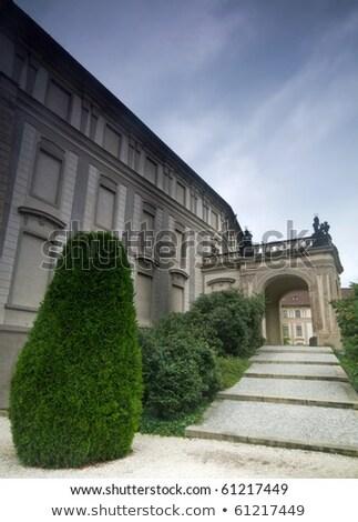 bahçe · Prag · kale · Çek · Cumhuriyeti · Bina · seyahat - stok fotoğraf © photocreo