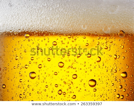 Stock photo: Cold glass of beer close up