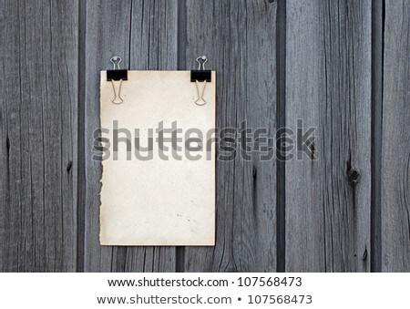 levélpapír · fa · panel · fehér · régi · fa · üzlet - stock fotó © inxti