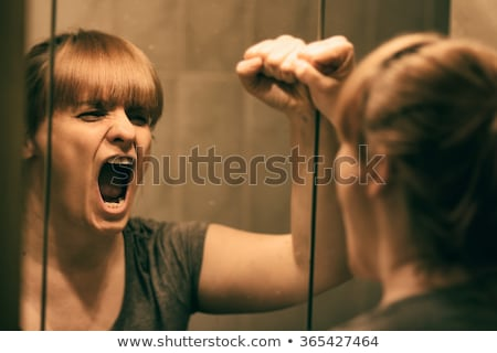 Emotions. Headache. Young woman screaming. Pain Stock photo © gromovataya