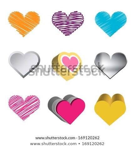 Set valentine's day butons, vector symbols Stock photo © Ecelop