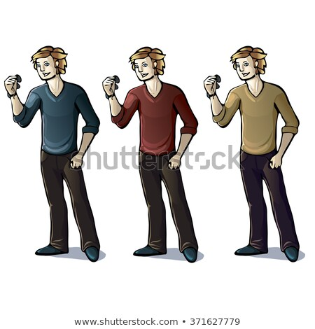 fashion young man with red nose and hands in pockets stock photo © feedough