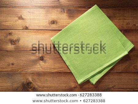 Asztal szalvéta konyha fából készült szövet retro Stock fotó © stevanovicigor