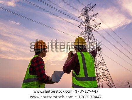 High-tension power line Stock photo © ssuaphoto