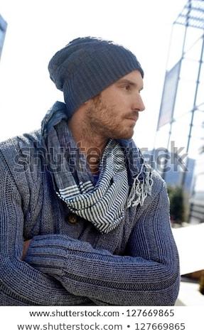 retrato · moço · sério · roupa · isolado - foto stock © alexandrenunes