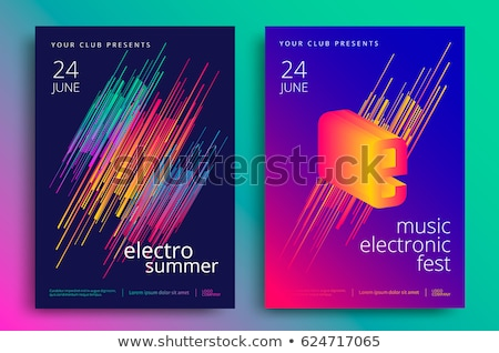 Stok fotoğraf: Disco Flyer Art For Music Event Backgrounds Posters Brochure